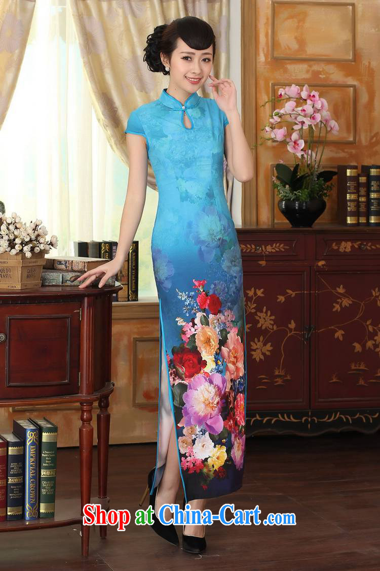 According to fuser new female retro improved dresses, suits for cultivating short-sleeved long cheongsam dress LGD/C #0010 figure 2 XL pictures, price, brand platters! Elections are good character, the national distribution, so why buy now enjoy more preferential! Health