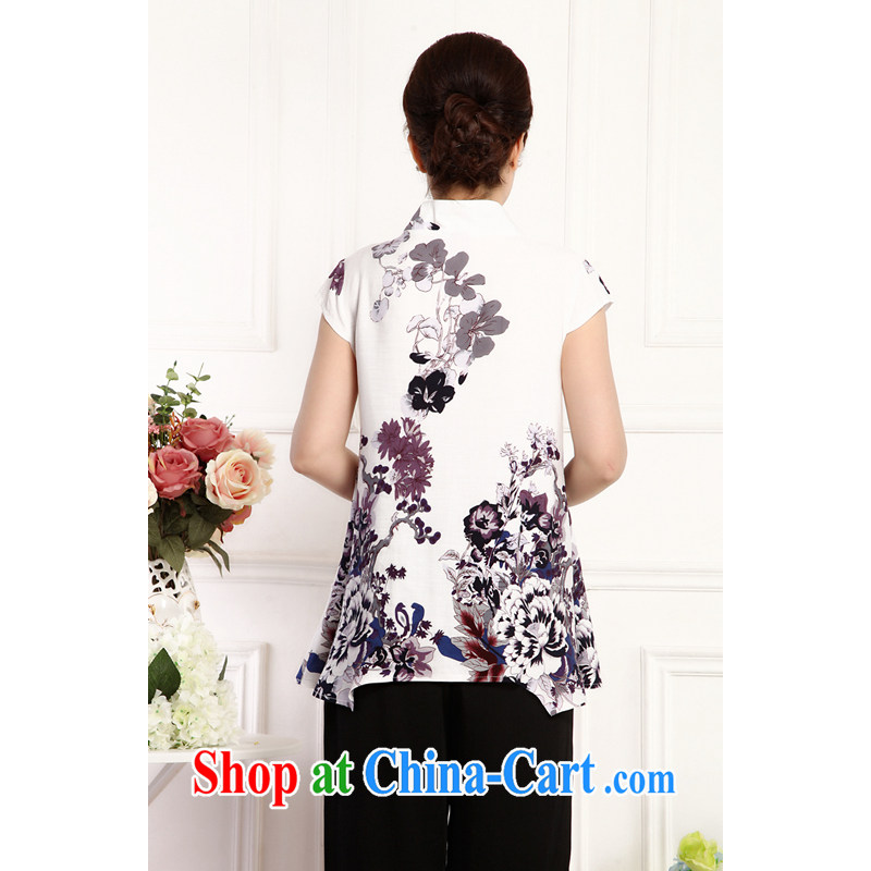 Putin's 2015 clone the Code women cotton summer the Chinese T-shirt retro positioning take short-sleeve loose does not rule out the LB - WCY - DWH coffee take XXXXL