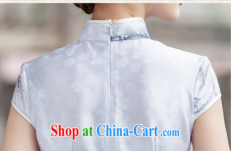 A property, China wind outfit summer 2015 new painting classic short-sleeved improved cheongsam dress XXL pictures, price, brand platters! Elections are good character, the national distribution, so why buy now enjoy more preferential! Health