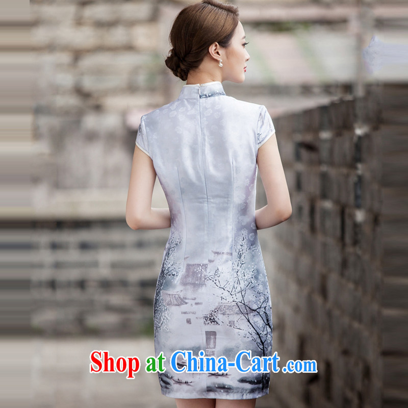 A property, China wind outfit summer 2015 new painting classic short-sleeved improved cheongsam dress XXL, property, language (wuyouwuyu), shopping on the Internet