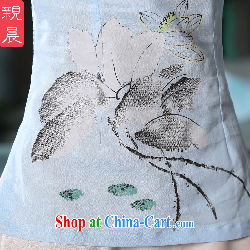 pro-am 2015 new spring and summer with daily fashion short retro improved cuff in Yau Ma Tei cotton dress dresses T-shirt T-shirt + skirt XL, the pro-am, shopping on the Internet