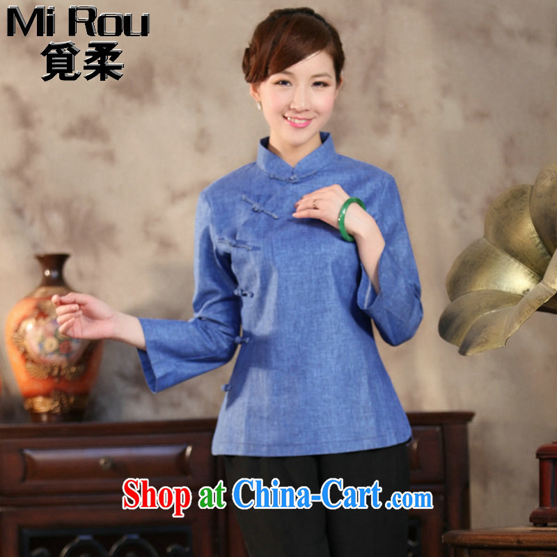 Find Sophie antique Chinese cotton Ms. Ma is a tight beauty Book Fragrance solid Chinese, for improved Chinese literary T-shirt such as the color 2 XL