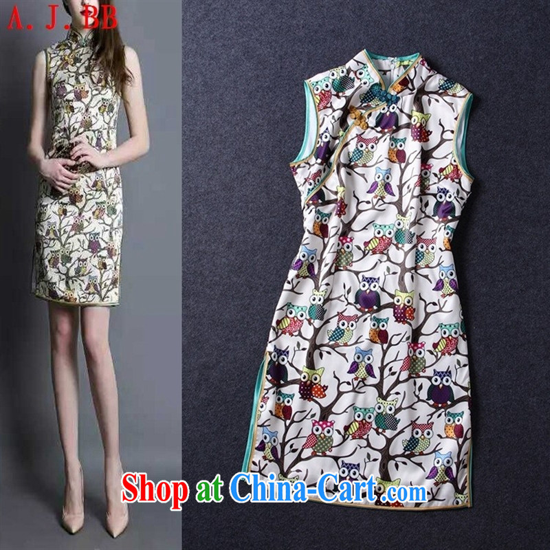 Black butterfly the card's boutique women's clothing new Chinese style gentle lovely improved, for the charge-back beauty cheongsam dress picture color L