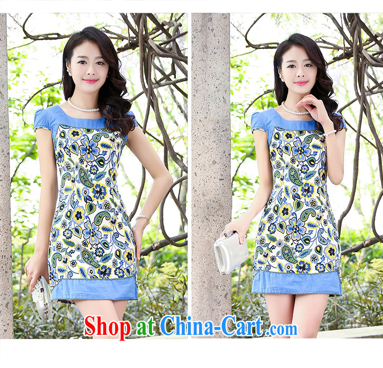 2015 new stretch cotton Ma dresses retro beauty everyday dresses skirts summer fashion to dress 5935