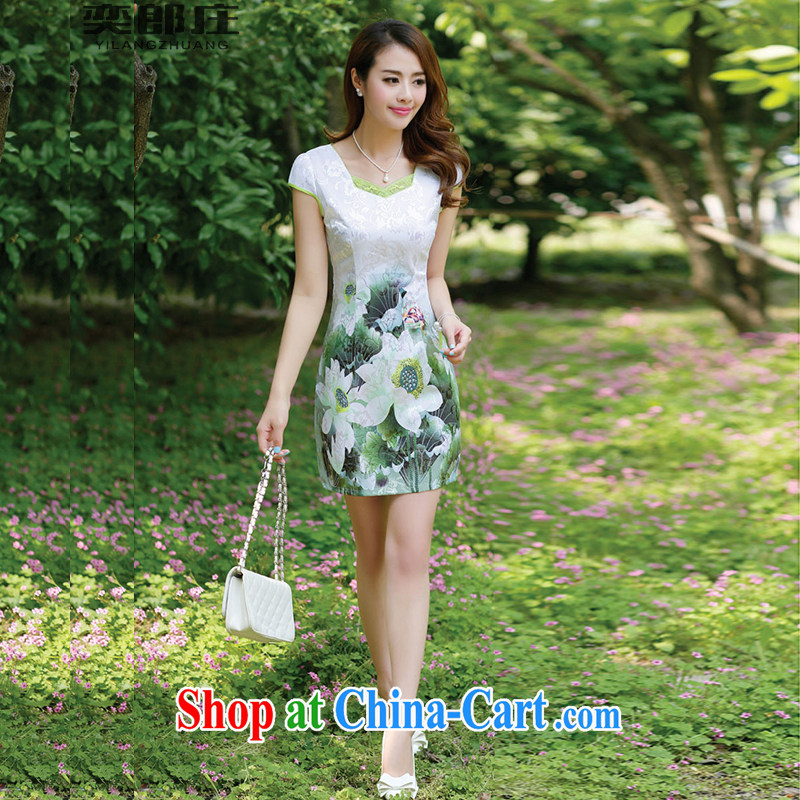 Sir David WILSON, Zhuang 2015 new products, female stamp dresses summer short-sleeved beauty retro national dresses package and 6659 picture color XXXL, Sir David WILSON, Zhuang (YILANGZHUANG), online shopping