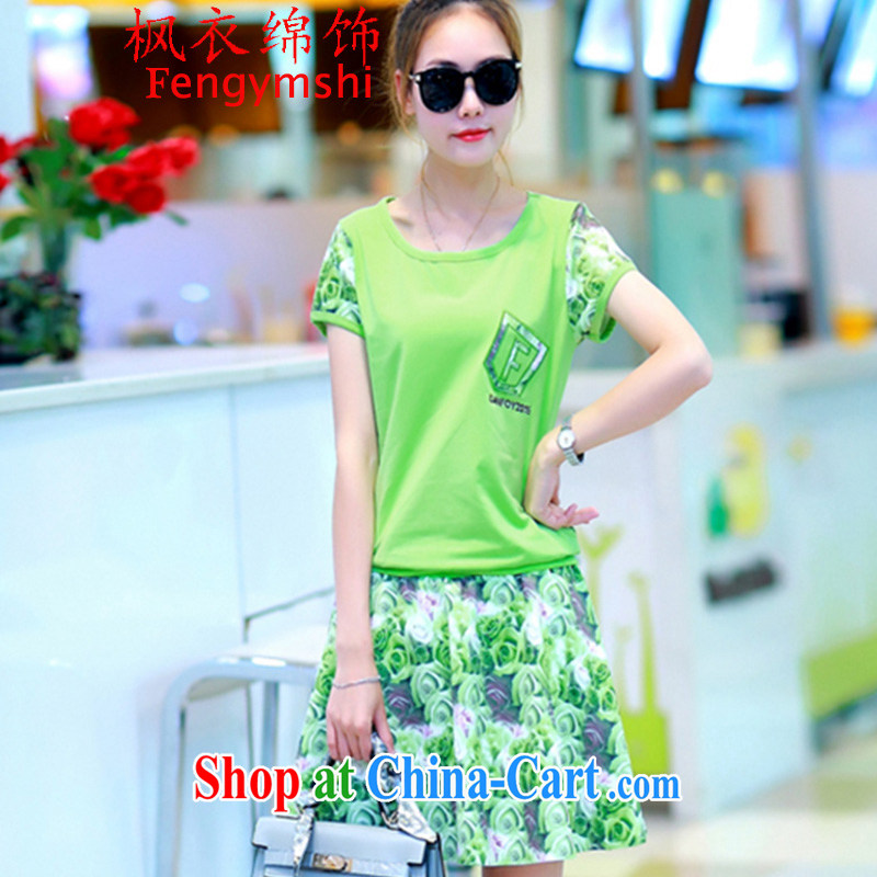 Feng Yi cotton trim 2015 new stamp short skirts Leisure package female beauty uniforms A Field skirt kit #943 330 B A green XXL .