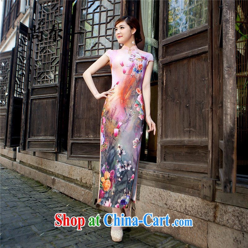 There is a summer new upscale daily fashion improved long, Mostar, qipao,beauty antique dresses long skirt 5206 rose red XXL