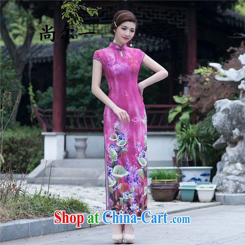 There is a refined and stylish beauty, generation, long dresses daily dress Dinner Show 52,010 dresses Map Color XXL