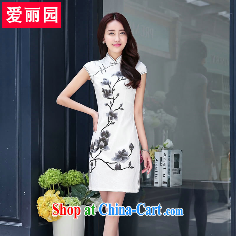Alice Park 2015 summer new female retro lady beauty graphics thin, long dresses female Korean dresses skirts XXL