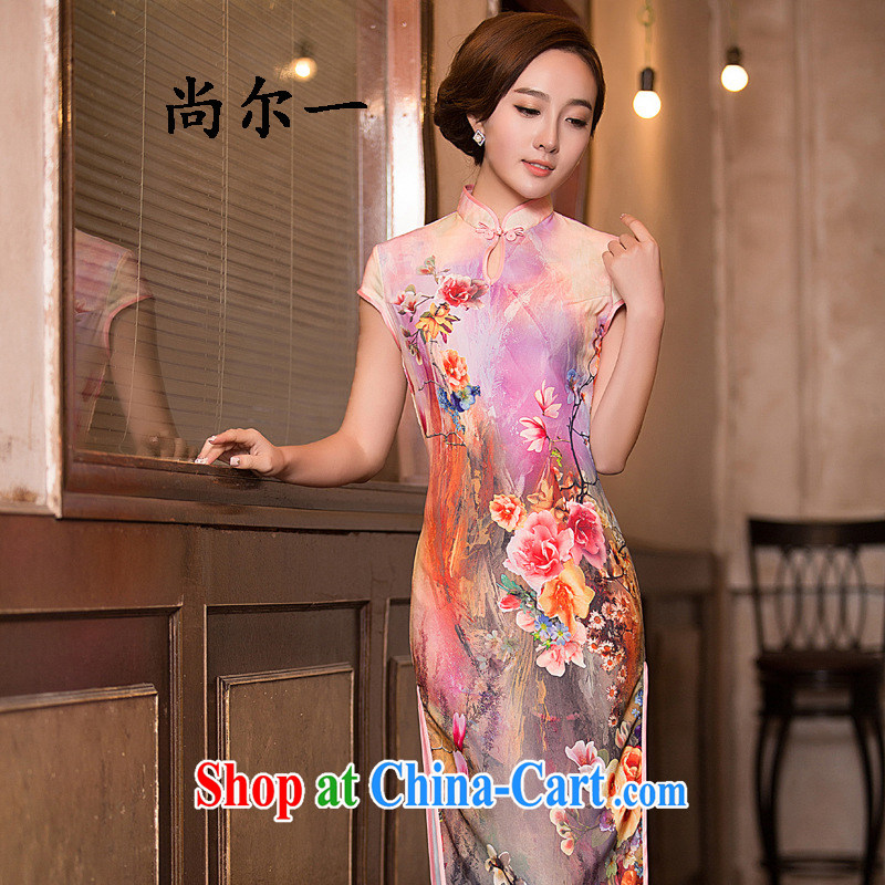 There's a retro Beauty Fashion improved graphics slim, qipao dresses day dresses skirts summer 52,013 Map Color XXL
