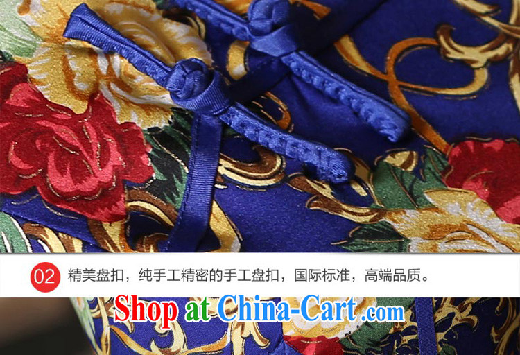 pro-am 2015 new daily summer improved stylish long, short-sleeved sauna silk heavy Silk Cheongsam dress long 3XL pictures, price, brand platters! Elections are good character, the national distribution, so why buy now enjoy more preferential! Health