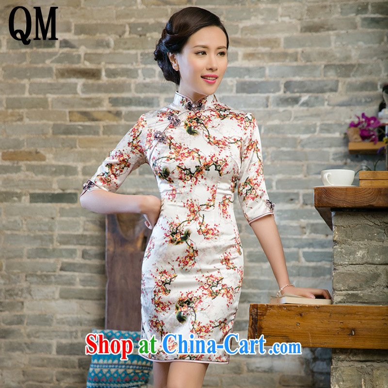 The very short summer with retro cuff in cheongsam beauty manual tray snap improved dresses JT 5098 Map Color XXL