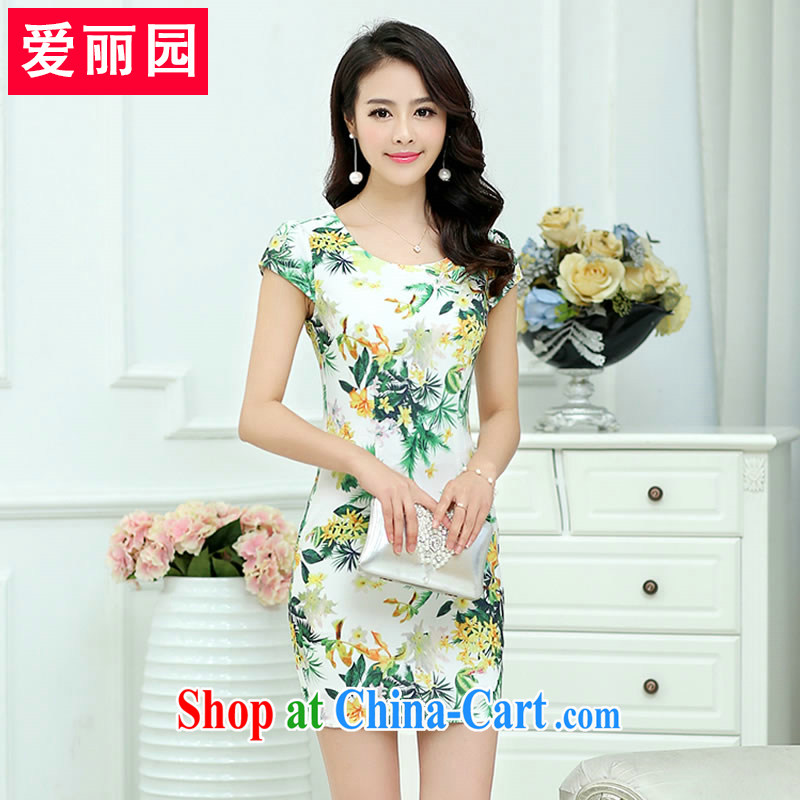 Alice Park 2015 summer new retro improved cheongsam dress package and a field as well as field A beauty skirt video thin large code female dresses XXXL