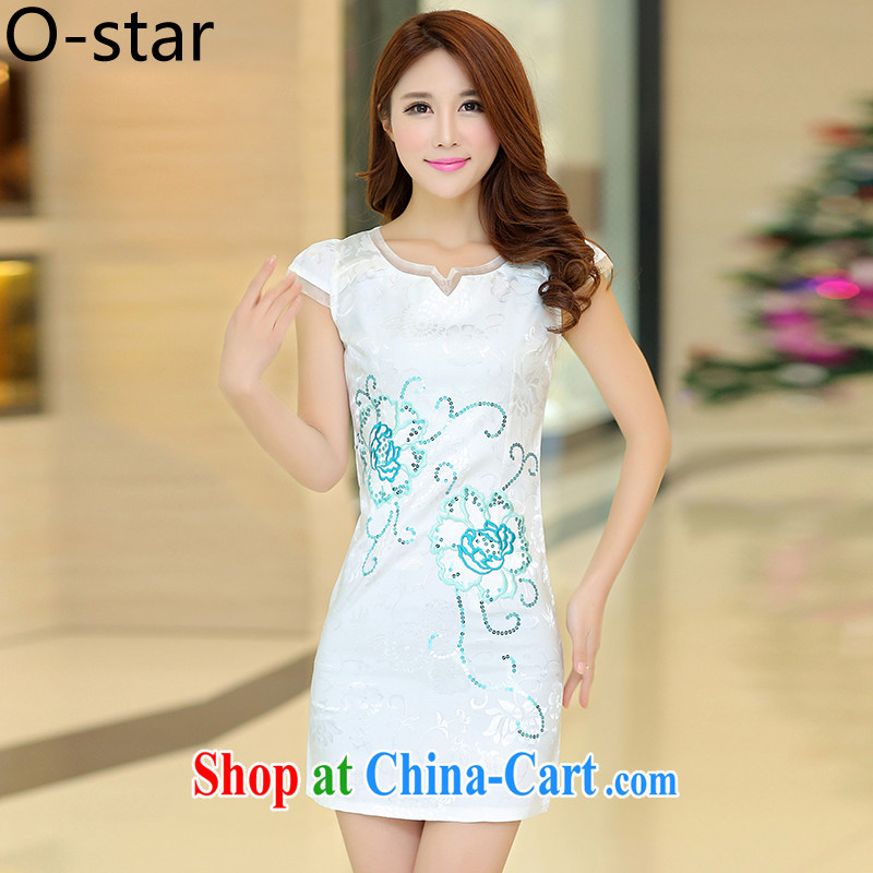 0-Star outfit summer 2015 new dresses, summer short stylish outfit improved cotton Ma Tang replace Ms. L white