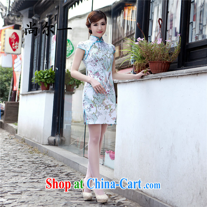 There is a summer 2015 new cheongsam floral retro long dresses daily outfit 52,112 Map Color XXL