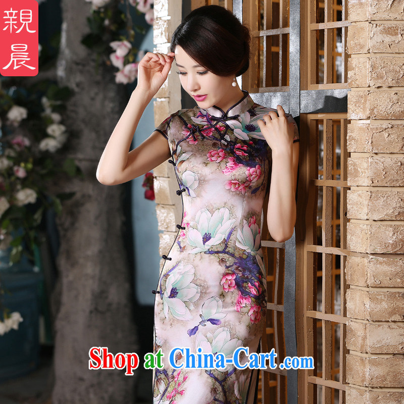 pro-am beauty retro style improved silk sauna silk long dress daily summer 2015 new dresses long 2XL