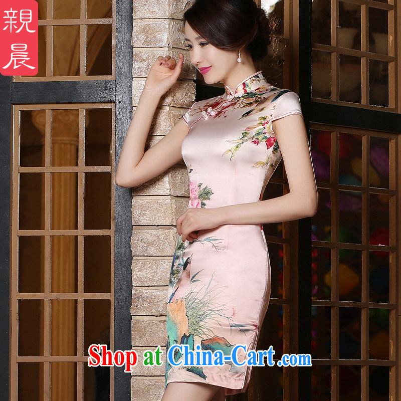 pro-am, new Silk sauna summer silk decorated in a classical style improved daily female short cheongsam dress short 2 XL - July 2,