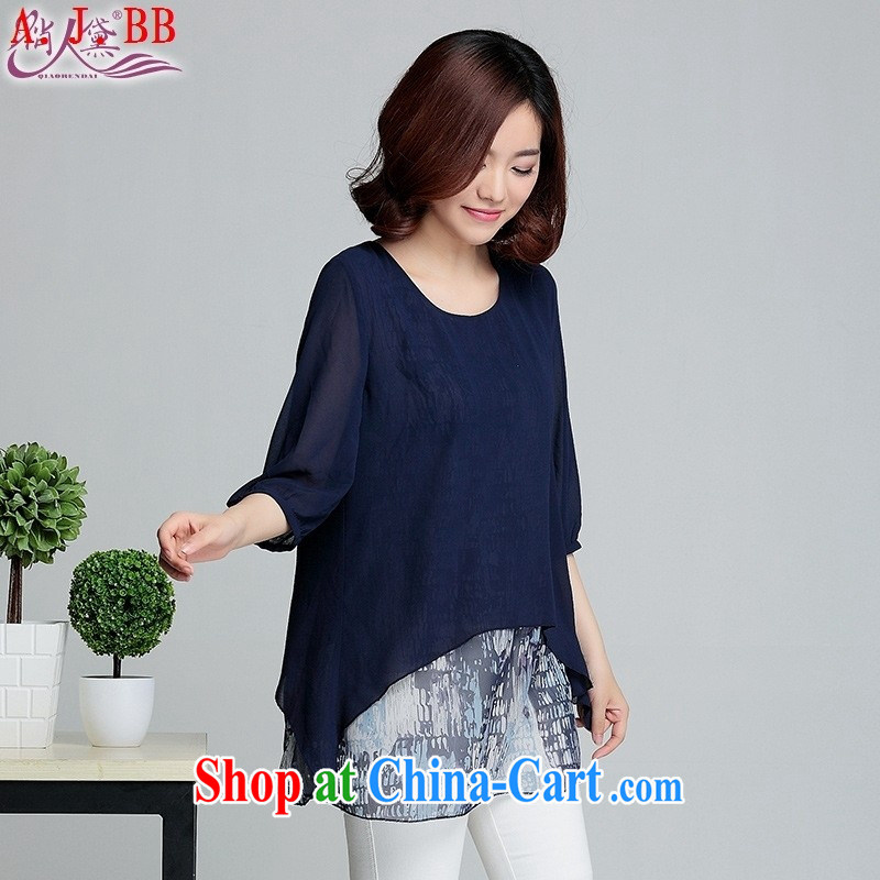 Black butterfly thick mm summer 2015 and indeed increase, female stamp snow woven shirts graphics thin, long, short-sleeved shirt T Tibetan youth large code L