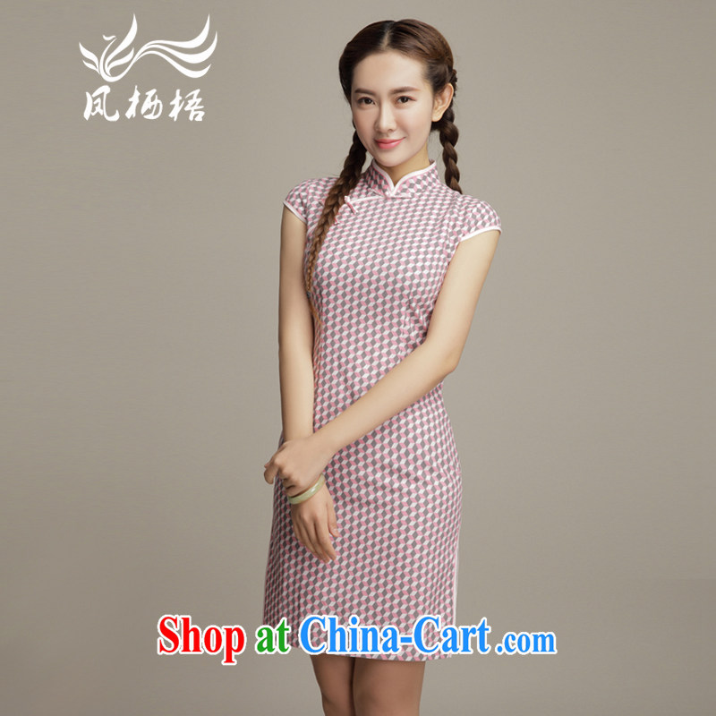 Bong-amphibious NTHU summer 2015 new units the cheongsam style beauty daily short-sleeved retro cheongsam dress DQ 15,112 fancy XXL