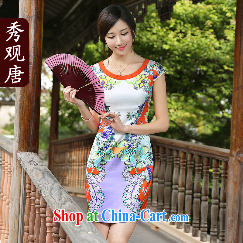The CYD HO Kwun Tong' cloud dance improved cheongsam dress 2015 summer new, Retro ethnic wind women fancy XXL