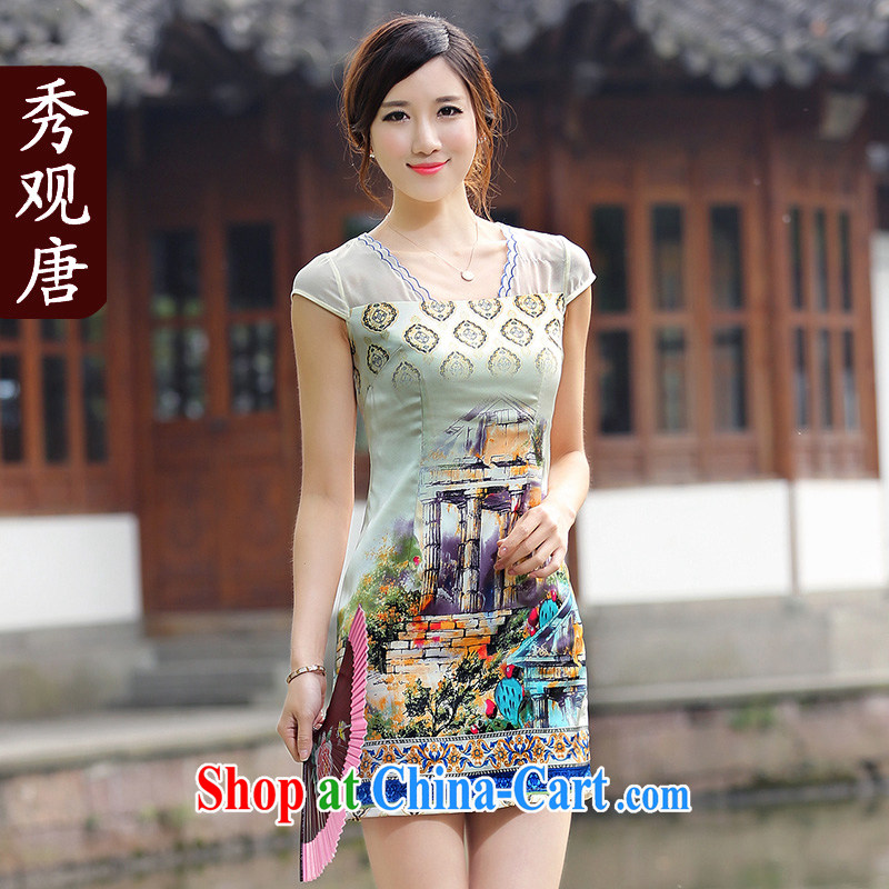 The CYD HO Kwun Tong' of the ice land improvement and stylish cheongsam dress summer 2015 New Beauty dresses M