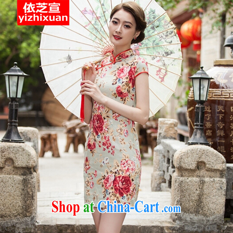 According to Chi-sun spring and summer with new, elegant qipao beauty daily improved fashion cheongsam dress suit S