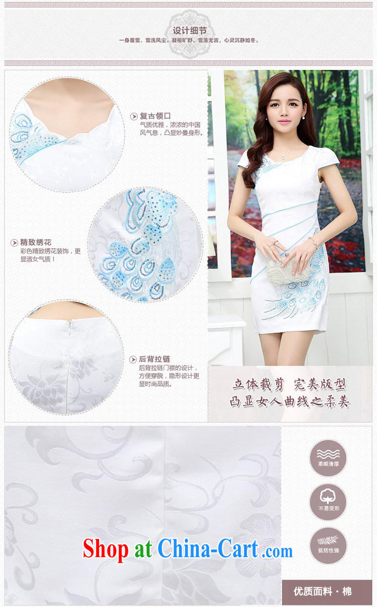 Thanks for Mrs 2015 new female summer Ethnic Wind retro beauty graphics thin cheongsam dress Hester Prynne XL pictures, price, brand platters! Elections are good character, the national distribution, so why buy now enjoy more preferential! Health