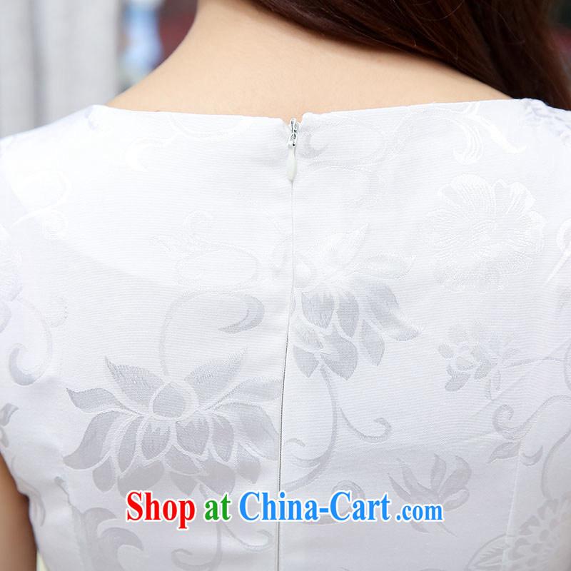 Thanks for Mrs 2015 new female summer Ethnic Wind retro beauty graphics thin cheongsam dress XL Hester Prynne, beautiful Mrs (liangshu), online shopping