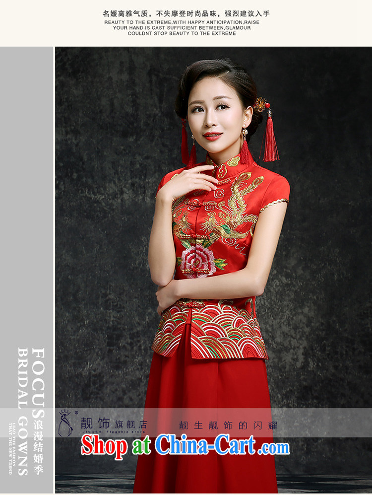 Beautiful ornaments summer 2015 New red long cheongsam dress beauty graphics thin improved version stylish new wedding dress toast clothing Red. Contact Customer Service pictures, price, brand platters! Elections are good character, the national distribution, so why buy now enjoy more preferential! Health