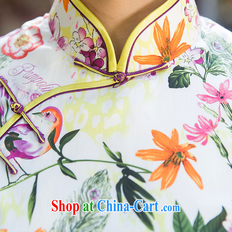 Old Wu female Red 2015 summer new stamp cheongsam short XXL suit, old Wu female Red, shopping on the Internet
