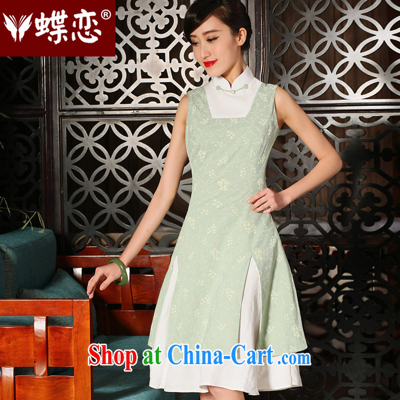 Butterfly, Butterfly Lovers 2015 spring and summer with new national antique stamp cheongsam dress in cultivating long cotton the cheongsam dress as shown - pre-sale 5 days XXL