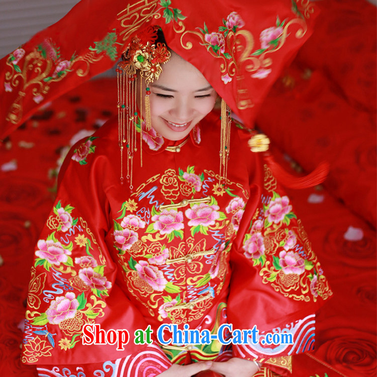 Animated Anne married Yi bride Chinese traditional wedding red lid bridal cover head-cover-hi, scarf, emulation, flow, and red head yarn red pictures, price, brand platters! Elections are good character, the national distribution, so why buy now enjoy more preferential! Health