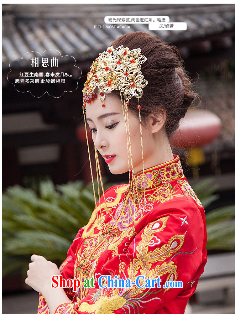 man she married, bridal jewelry costumes Bong-Koon-su Wo kimono robes and ornaments Chinese national class comb Hair accessories the Kanzashi retro-decorated classic red and take flow, with golden pictures, price, brand platters! Elections are good character, the national distribution, so why buy now enjoy more preferential! Health