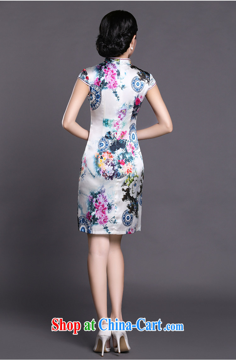 Joe is still a high-yuan Silk Cheongsam dress summer improved Chinese Chinese 013 ZS XXL suit pictures, price, brand platters! Elections are good character, the national distribution, so why buy now enjoy more preferential! Health
