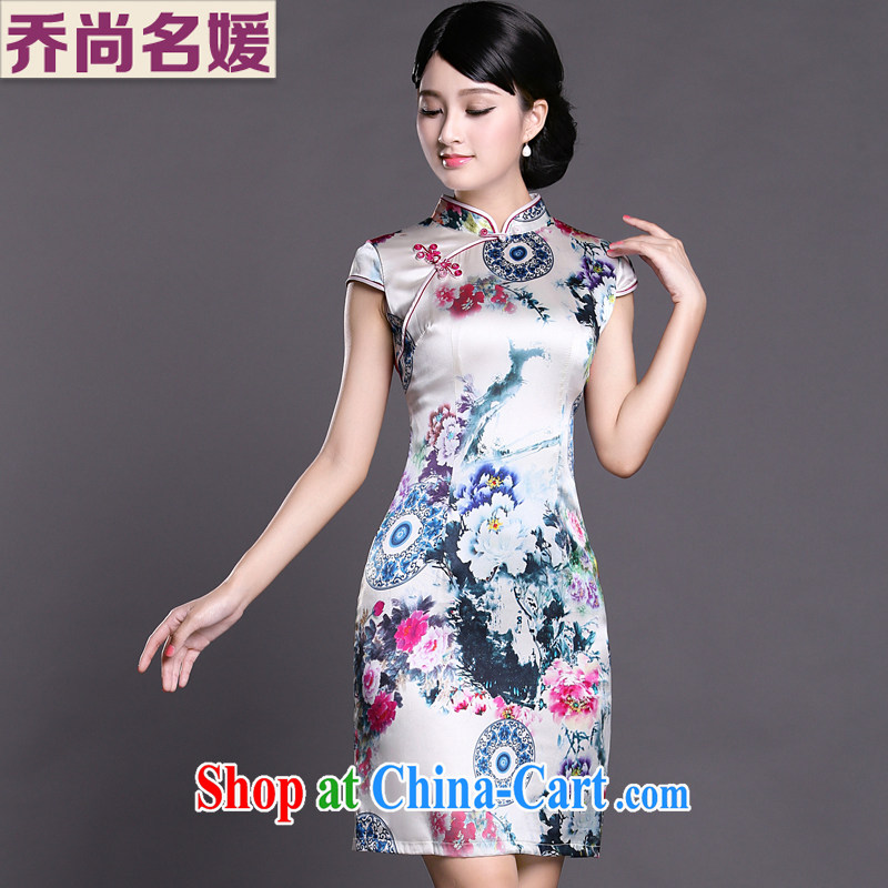 Joe is still a high-yuan Silk Cheongsam dress summer improved Chinese Chinese 013 ZS XXL suit