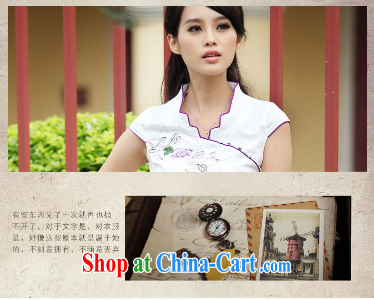 Good flower cheongsam dress summer summer new stylish short retro stamp beauty dresses, 6901 #pink XL pictures, price, brand platters! Elections are good character, the national distribution, so why buy now enjoy more preferential! Health