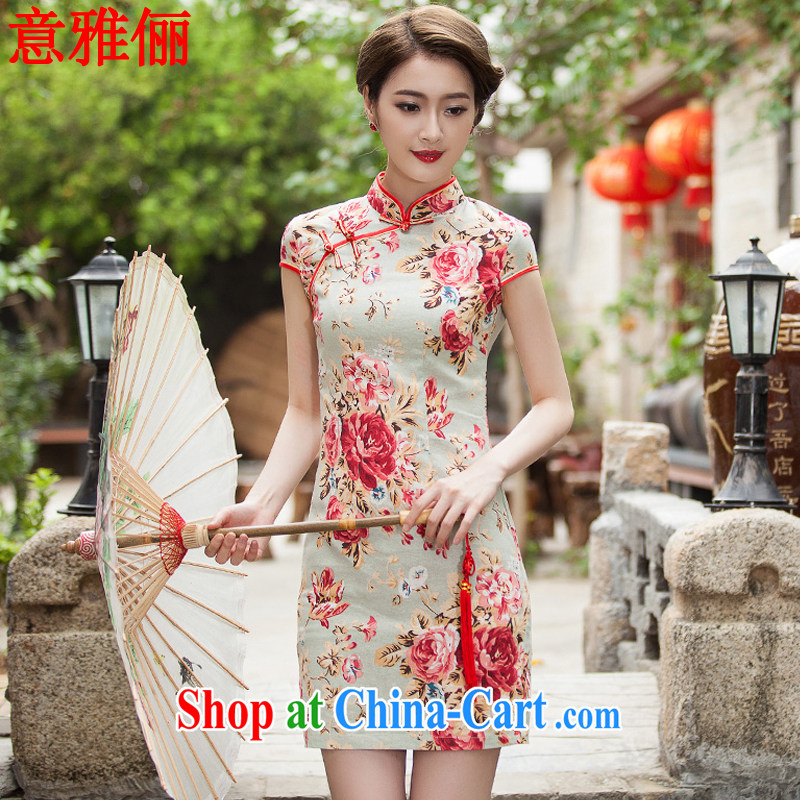 Jacob was an 2015 summer new, elegant qipao beauty daily improved fashion cheongsam dress L 687 fancy XXL