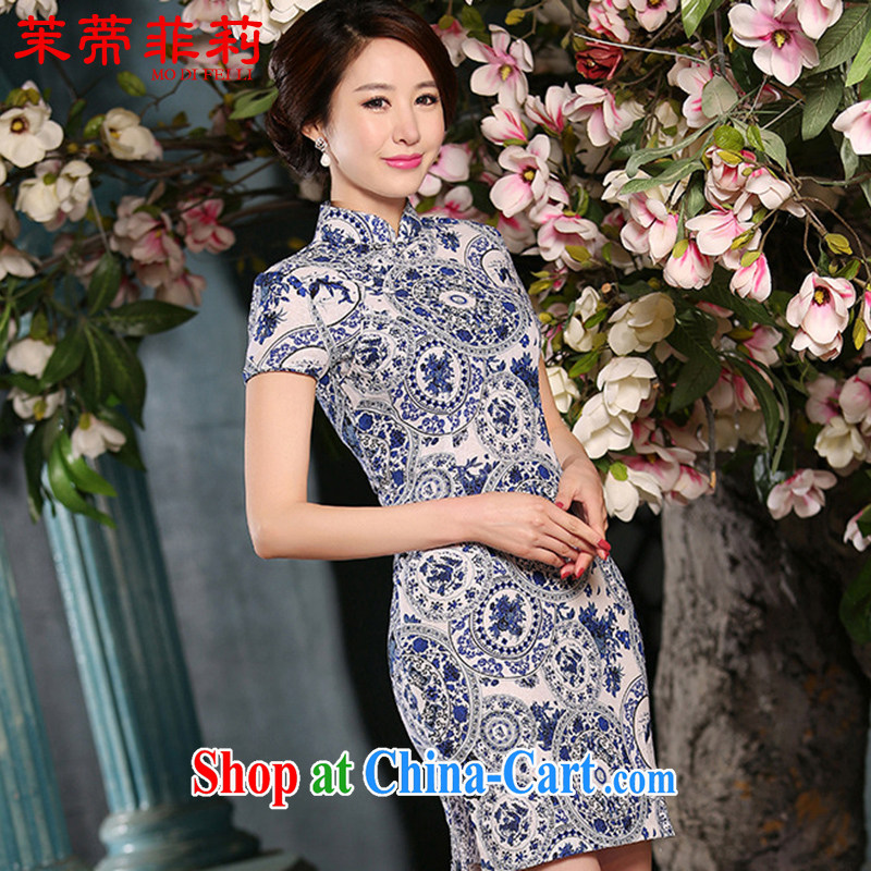 Energy Mr. Philip Li girls summer Chinese Antique linen beauty long sleeves in stylish Women's ceremonial improved cheongsam template features XXL