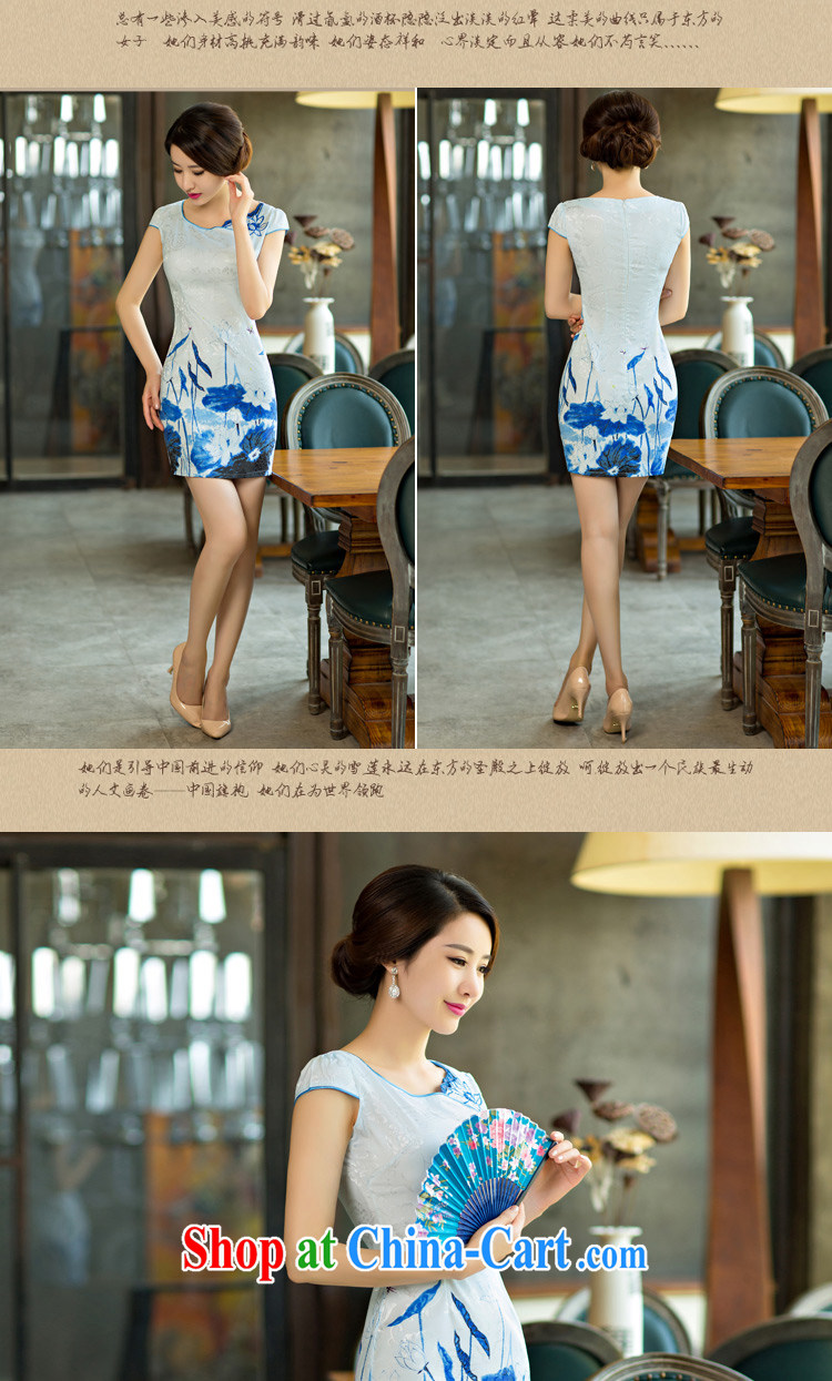 Fruit 2015 summer improved female cheongsam dress retro beauty everyday dresses short dresses, 9004 green XXL pictures, price, brand platters! Elections are good character, the national distribution, so why buy now enjoy more preferential! Health