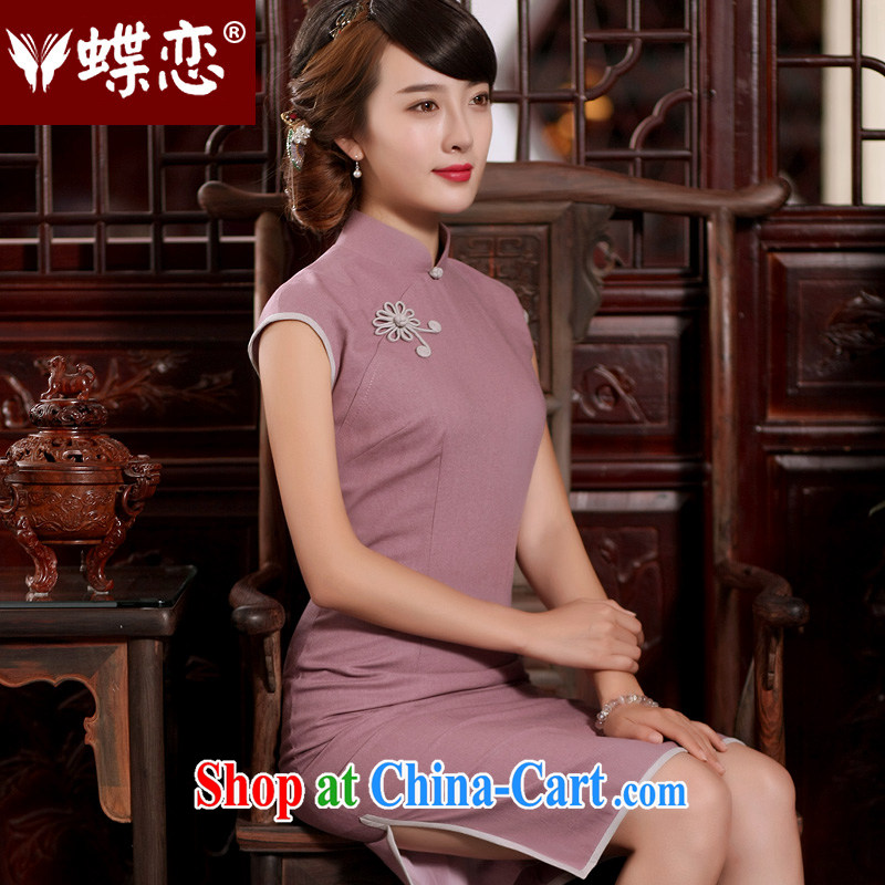 Butterfly Lovers summer 2015 with new, improved and stylish beauty cheongsam dress retro long cotton the everyday goods such as figure - pre-sale 15 days XXL