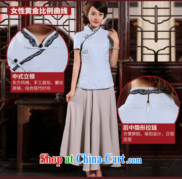 Butterfly Lovers 2015 summer new Ethnic Wind improved cheongsam shirt Han-Chinese wind cotton Ms. Yau Ma Tei Tong with elegant Purple - pre-sale 15 days XXL pictures, price, brand platters! Elections are good character, the national distribution, so why buy now enjoy more preferential! Health