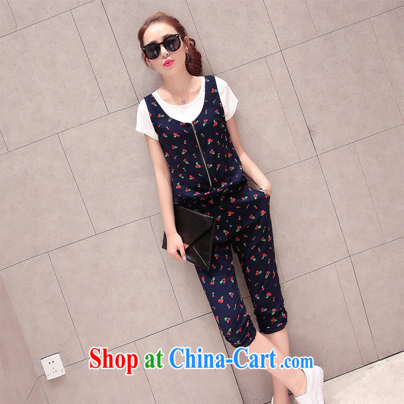 Ya-ting store 2015 summer new Korean female stamp with the pants set BQYHZa pants 03 stars XL
