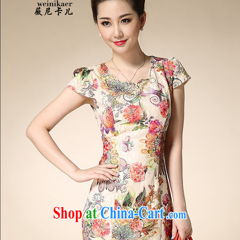 Ms Audrey EU, child care _1086 lace cheongsam dress retro elegant qipao skirts 2015 spring and summer improved stylish beauty mother load
