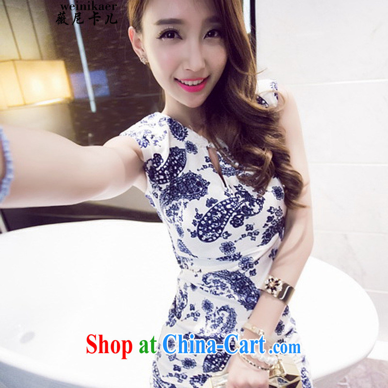 Ms Audrey EU, the children, the United States and Europe, and Stylish retro stamp duty cultivating the forklift truck-cheongsam dress 8946