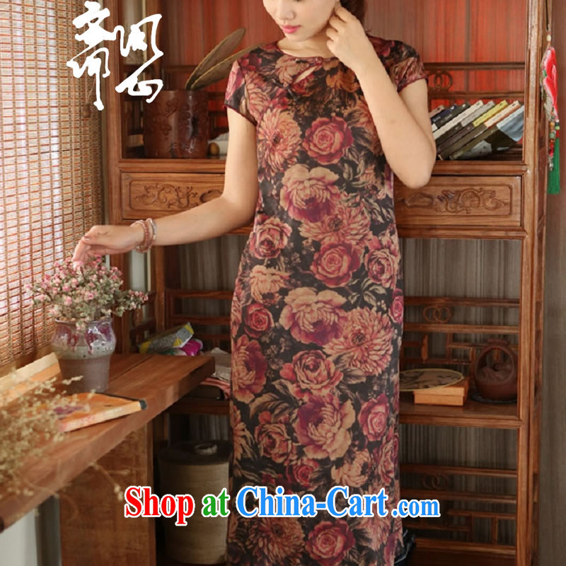 Asked about Ramadan and the Hyatt heart health women's clothing new summer, fragrant cloud yarn Chinese qipao dresses satin-unique a tight dress 2004 picture color manual customization,