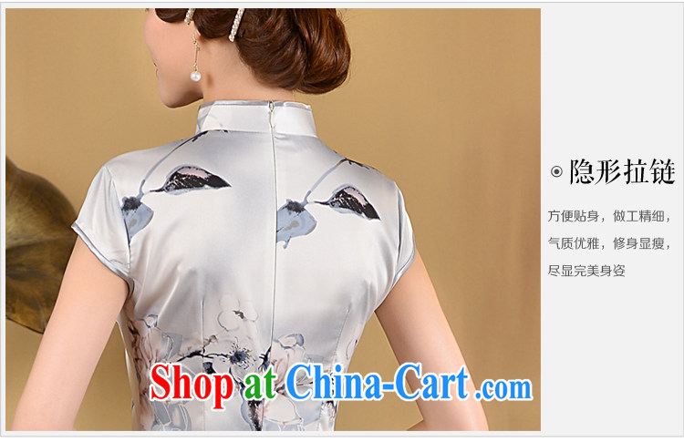 2015 cheongsam short summer fashion, improved cultivation video thin-waist short, Retro daily outfit skirt white XL pictures, price, brand platters! Elections are good character, the national distribution, so why buy now enjoy more preferential! Health