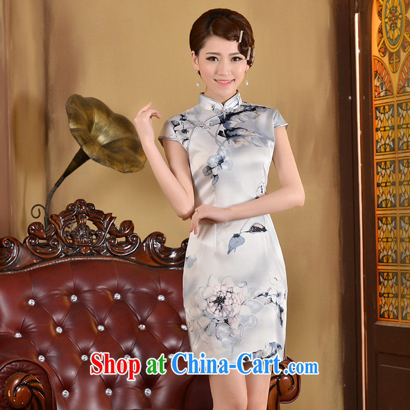 2015 cheongsam short summer fashion, improved cultivation video thin-waist short, Retro daily outfit skirt white XL, Taylor Martin (TAILEMARTIN), shopping on the Internet