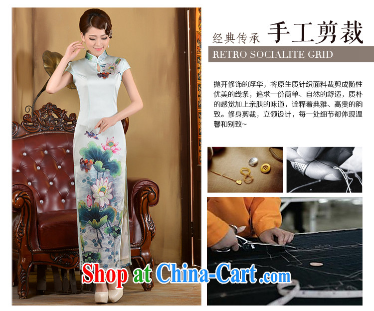 2015 long day dresses spring and summer new retro ethnic wind beauty graphics thin-waist dress cheongsam dress white XXL pictures, price, brand platters! Elections are good character, the national distribution, so why buy now enjoy more preferential! Health