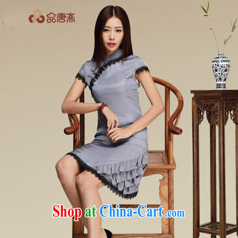 Mr Henry Tang, Id al-Fitr original silk cheongsam dress exclusive sauna silk retro dresses high quality Chinese clothing picture color XL