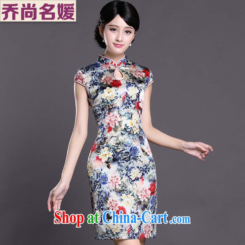 Joe is still name-yuan Silk Cheongsam summer China wind Chinese 014 ZS XXL suit